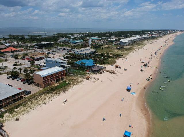 Aerial of St. George Island, FL