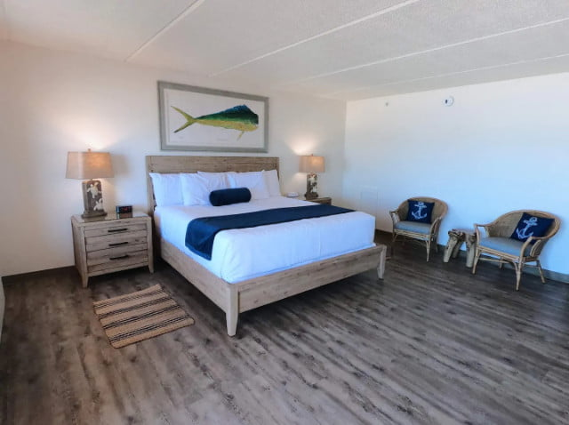 King Bed at Island Suites on St. George Island, FL